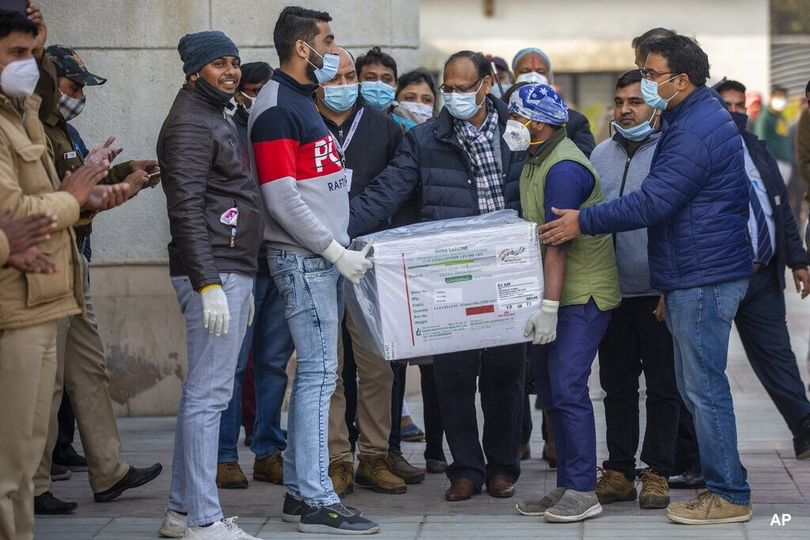 ڤاکسینی کۆرۆنا گهشته نەخۆشخانەكانی هندستان 